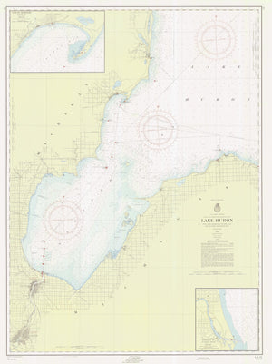 Lake Huron - Pointe Aux to Oscoda & Saginaw Bay -1955