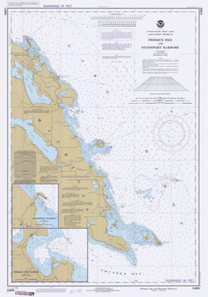 Lake Huron - Presque Isle Map - 1983