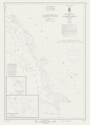 Lake Huron -Presque Isle Map - 1970