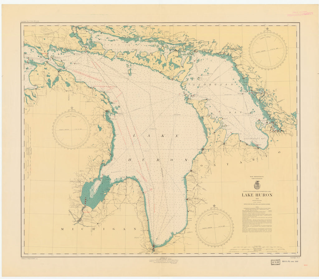 Lake Huron Map - 1940