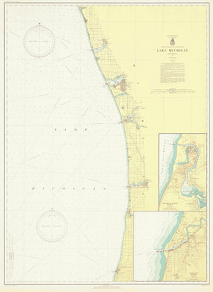 Lake Michigan - Eastern Shore Map 1936
