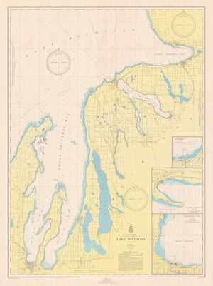 Lake Michigan- Chart 706 - 1950