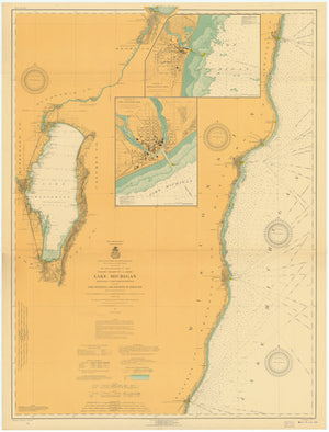 Lake Michigan - Kewaunee to Port Washington Map - 1916