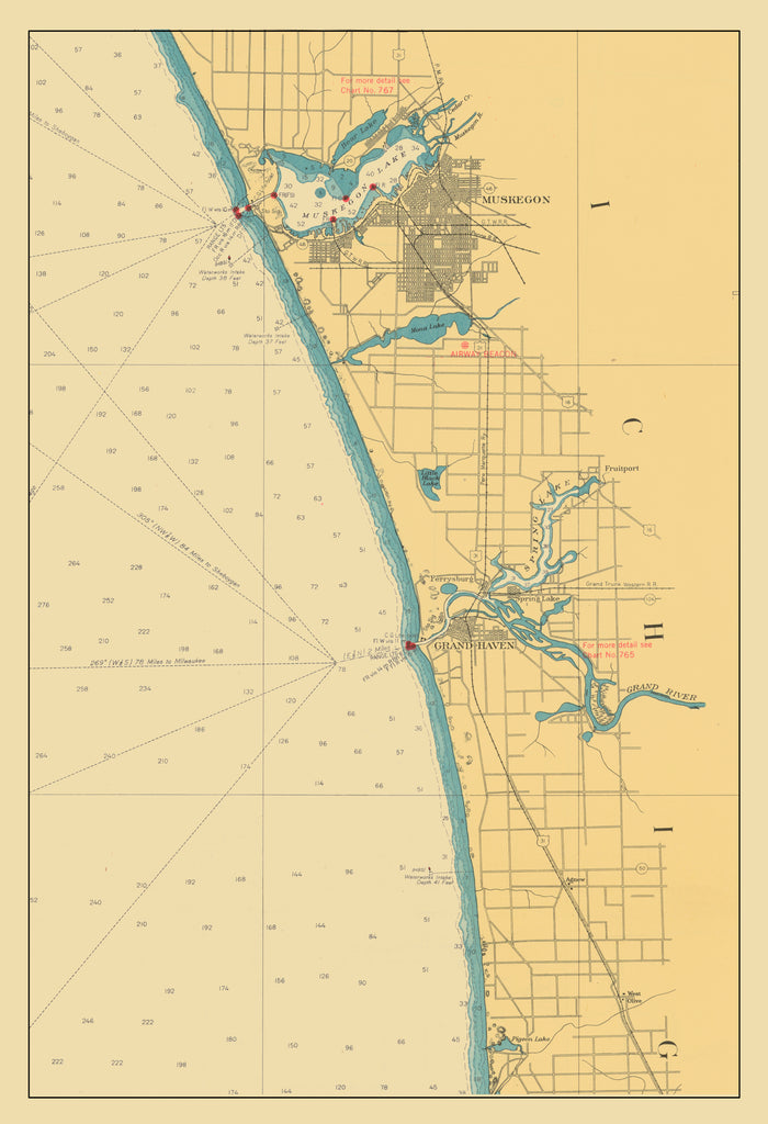 Lake Michigan - Muskegon to Pigeon Lake 1947