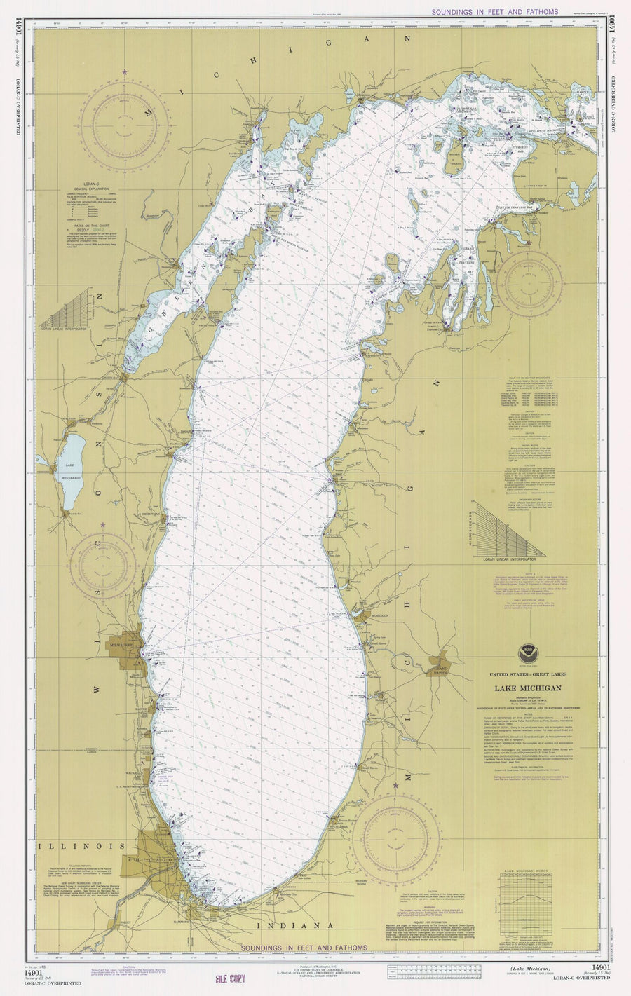 Lake Michigan Map - 1978