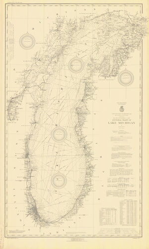 Lake Michigan Map - 1927