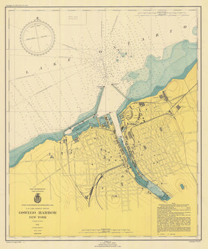 Lake Ontario - Oswego Harbor Map - 1946