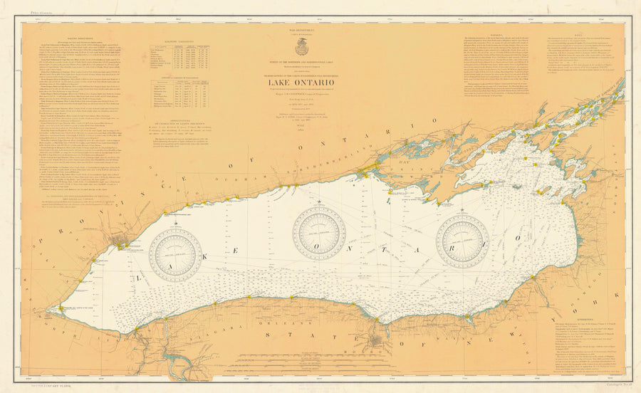 Lake Ontario Historical Map - 1904