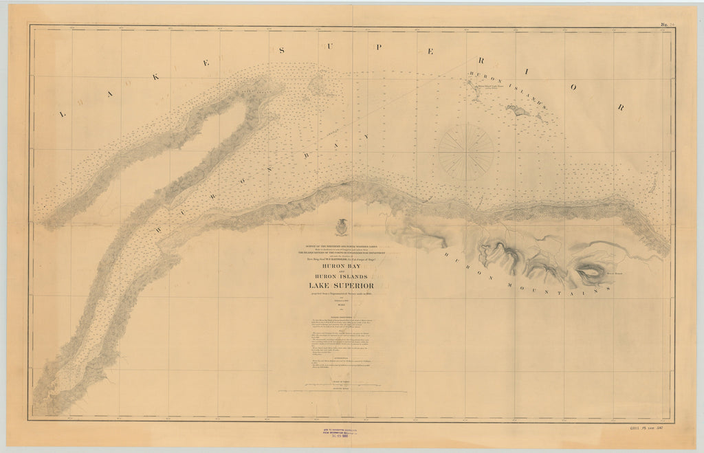 Lake Superior - Huron Bay - Historical Map 1895