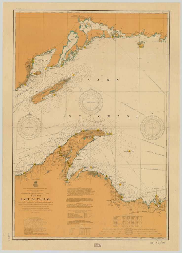Lake Superior - Keweenaw Point Map - 1905