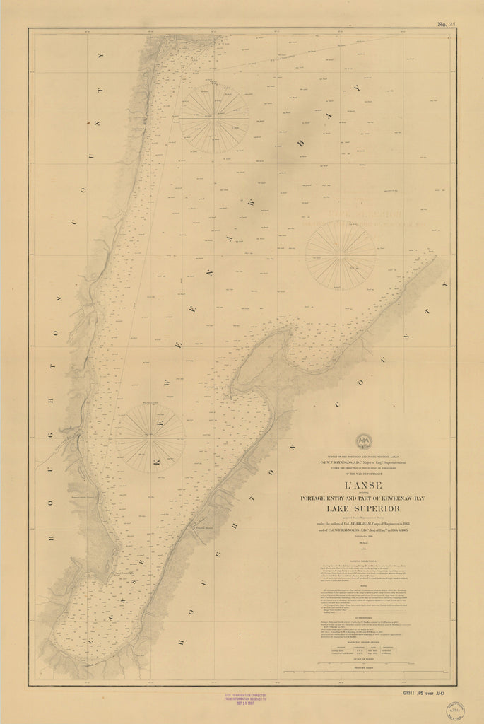 Lake Superior - Keweenaw Bay - Historical Map 1897
