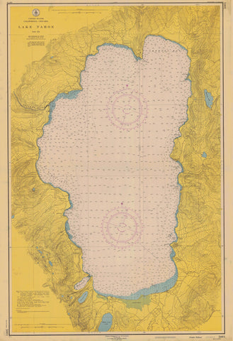 Lake Tahoe Historical Map - 1951