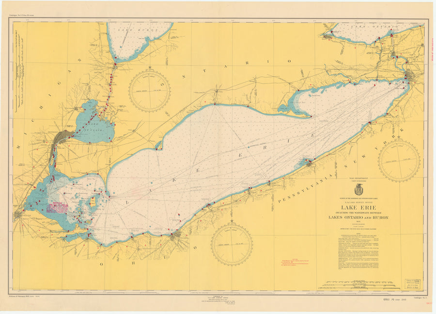 Lake Erie Map - 1948
