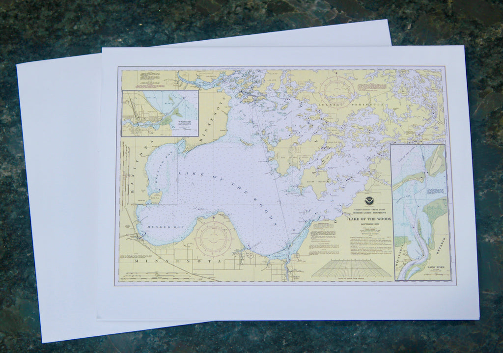 "Lake of the Woods Map Notecards 4.25""x5.5"""