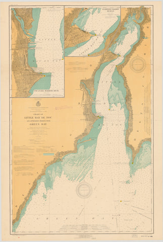 Great Lakes Maps Tagged Green Bay Map Nautical Chart Prints