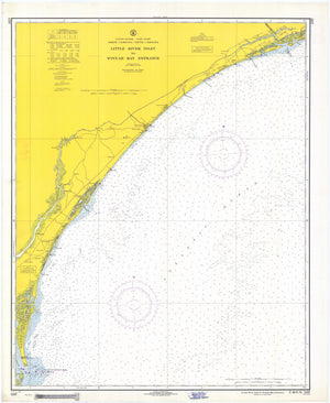 Little River Inlet to Winyah Bay Entrance Map - 1968
