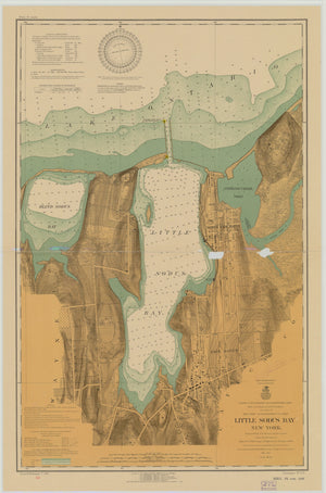 Little Sodus Bay Map - 1916
