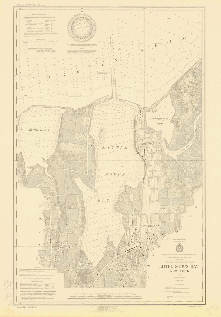 Little Sodus Bay Map - 1926