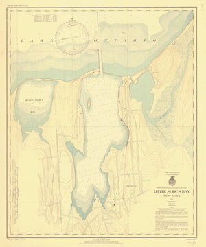 Little Sodus Bay Map - 1937