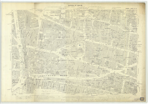 London City Map - 1896