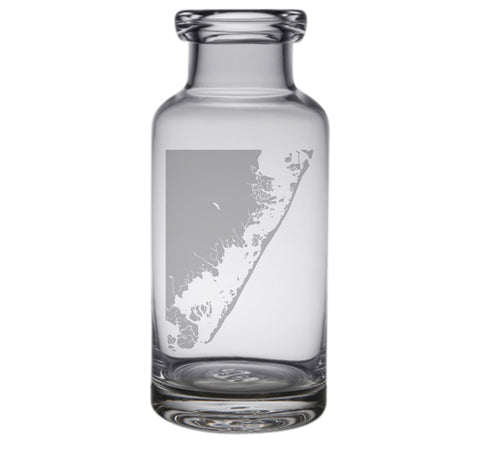 Long Beach Island Engraved Glass Carafe