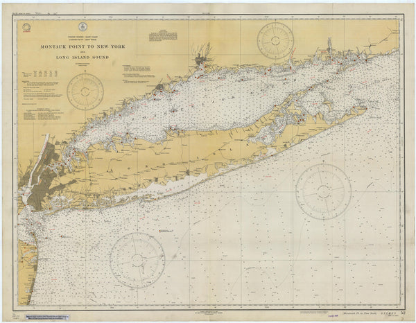 "Long Island Island Map Note Cards (1934) 4.25""x5.5"""