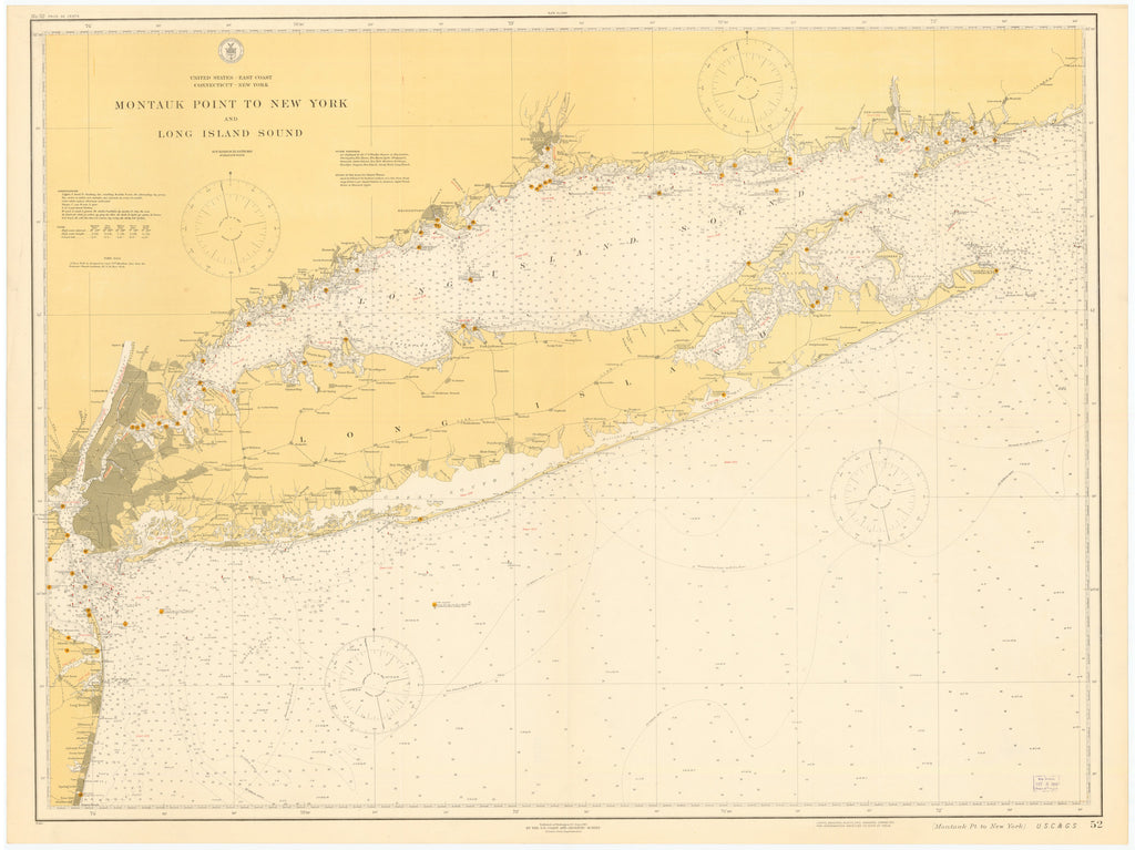 Approaches to New York & Long Island Historical Map - 1941