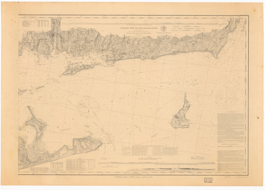 Long Island Sound (Eastern Part) Historical Map - 1878