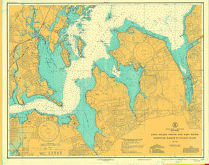 Long Island Sound and East River Map - 1939