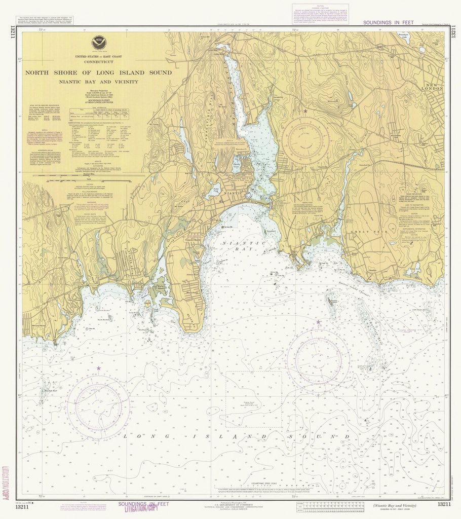 Long Island Sound - North Shore Map - 1990