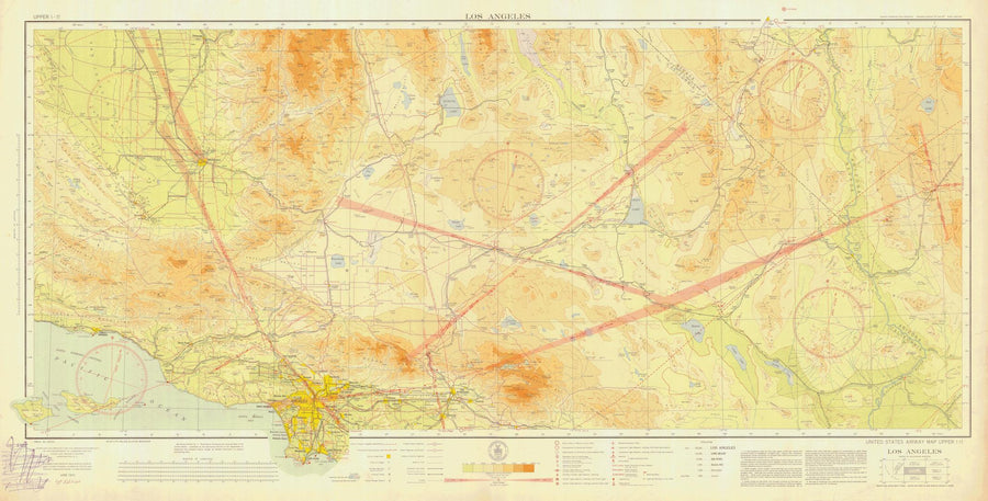 Los Angeles Aeronautical Chart - 1932