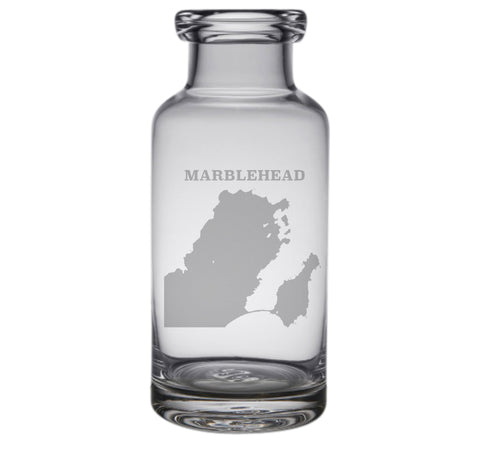Marblehead Engraved Glass Carafe