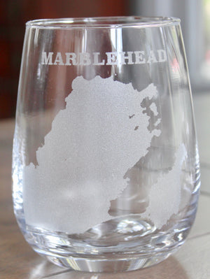 Marblehead Map Glasses