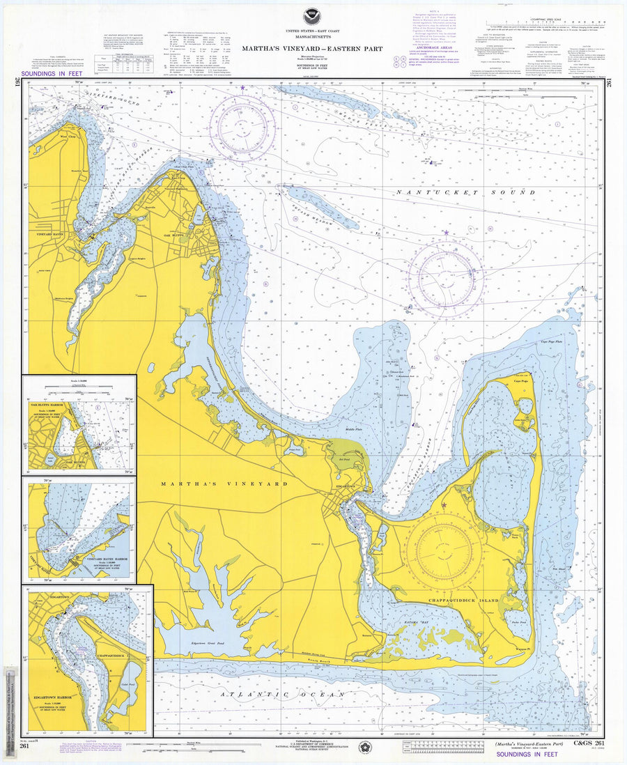 Martha's Vineyard - East End Map - 1974