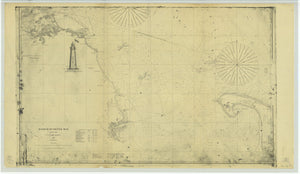 Boston Harbor & Massachusetts Bay Map - 1861