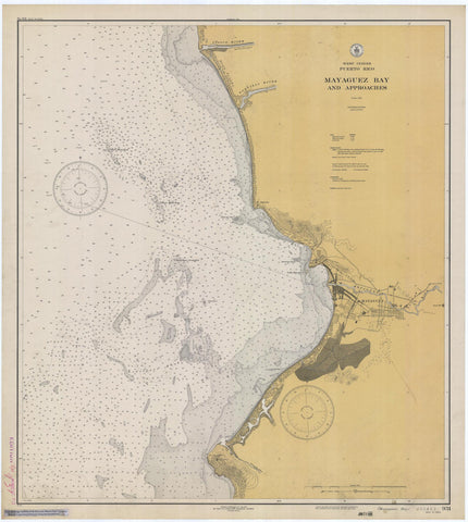 Mayaguez Bay Puerto Rico Map - 1933
