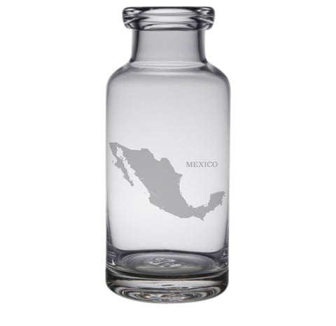 Mexico Engraved Glass Carafe
