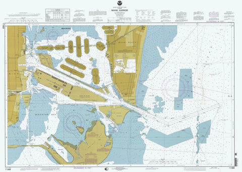 Miami Harbor Map - 1998