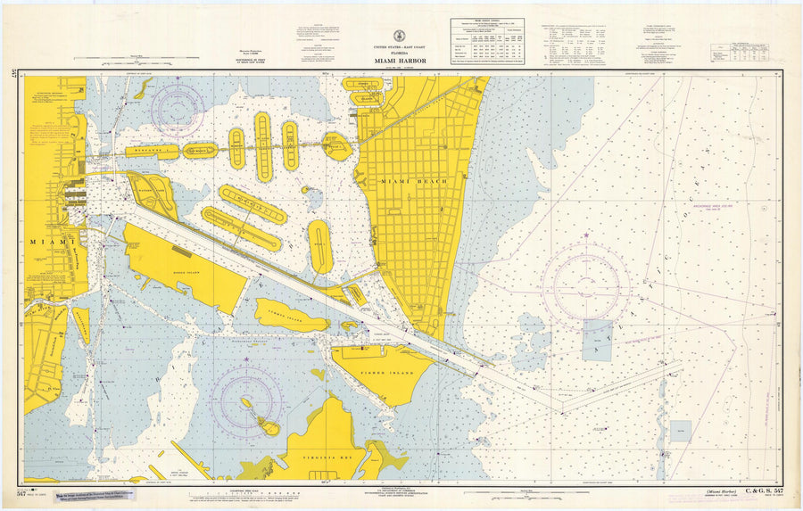 Miami Harbor Map - 1967