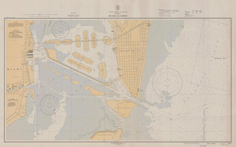 Miami Harbor Map - 1936