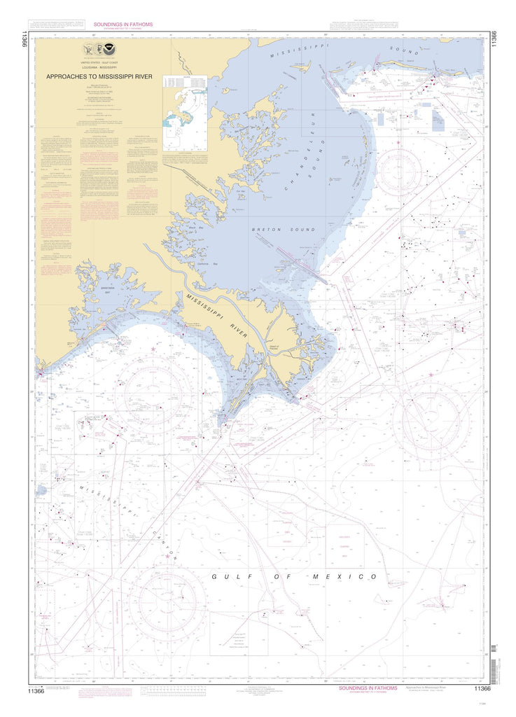 Mississippi River Approaches Map - 2011