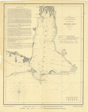 Mobile Bay - Alabama Map - 1852