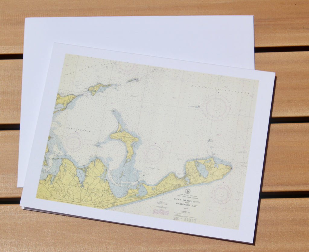 "Montauk Map Notecards 4.25""x5.5"""