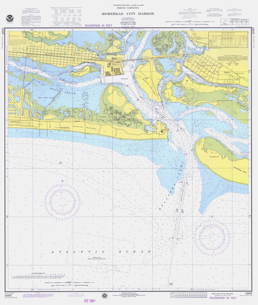Morehead City Harbor Map - 1976