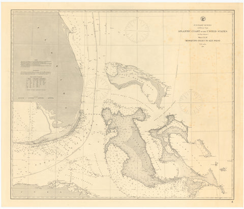 Mosquito Inlet to Key West Map 1863