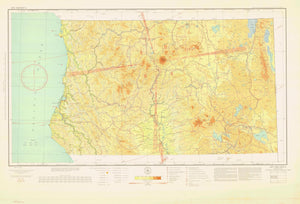 Mt Shasta Aeronautical Map - 1934