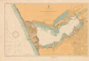 Lake Michigan - Muskegon Harbor Map 1918