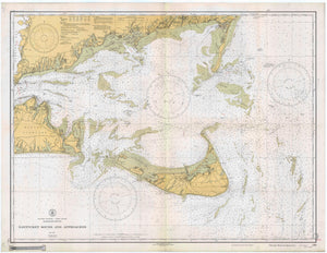 Nantucket Sound and Approaches Map - 1933