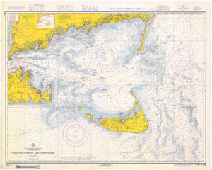 Nantucket Sound and Approaches Map - 1966