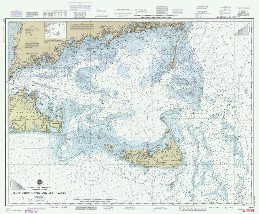 Nantucket Sound and Approaches Map - 1990